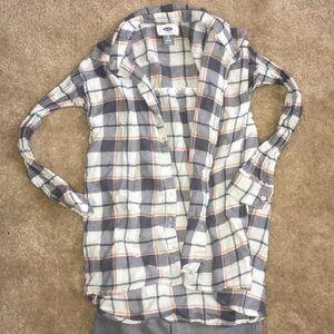 Girls grey plaid shirt